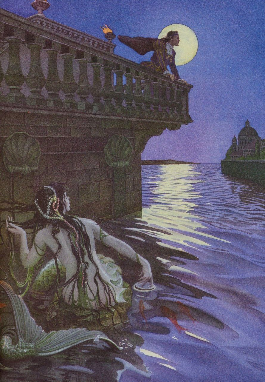 Image result for the little mermaid illustrated by charles santore