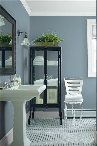Look At The Paint Colour Combination I Created With Benjamin Moore Via Wall Mineral Alloy 1622 Trim Ice 2132 70