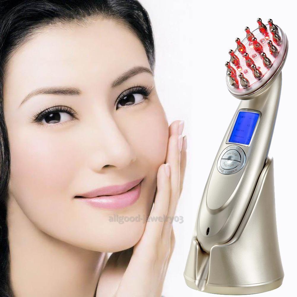 Usb charging laser comb vibrating scalp massage hair growth