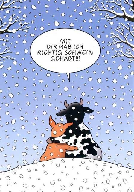 Cartoon Postkarten Mit Lustigen Sprüchen Mit Dir Hab Ich