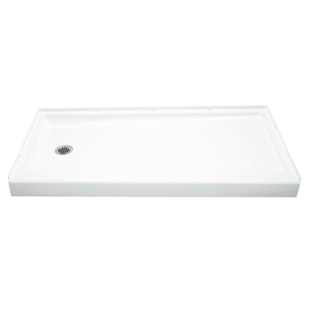 Sterling Ensemble 30 In X 60 In Single Threshold Left Hand Shower Base In White 72171710 0 The Home Depot Bathroom In 2019 Shower Base Shower Home Depot