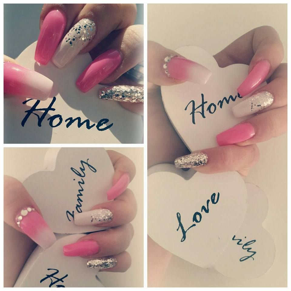 nails/pink/white/ombre/airbrush/glitter/diamonds | Nails & More ...