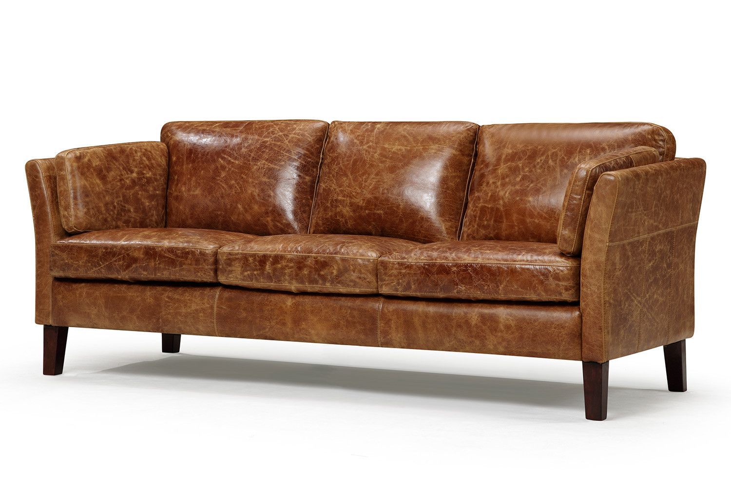The Vintage 1960 Scandinavian Leather Sofa Ashley