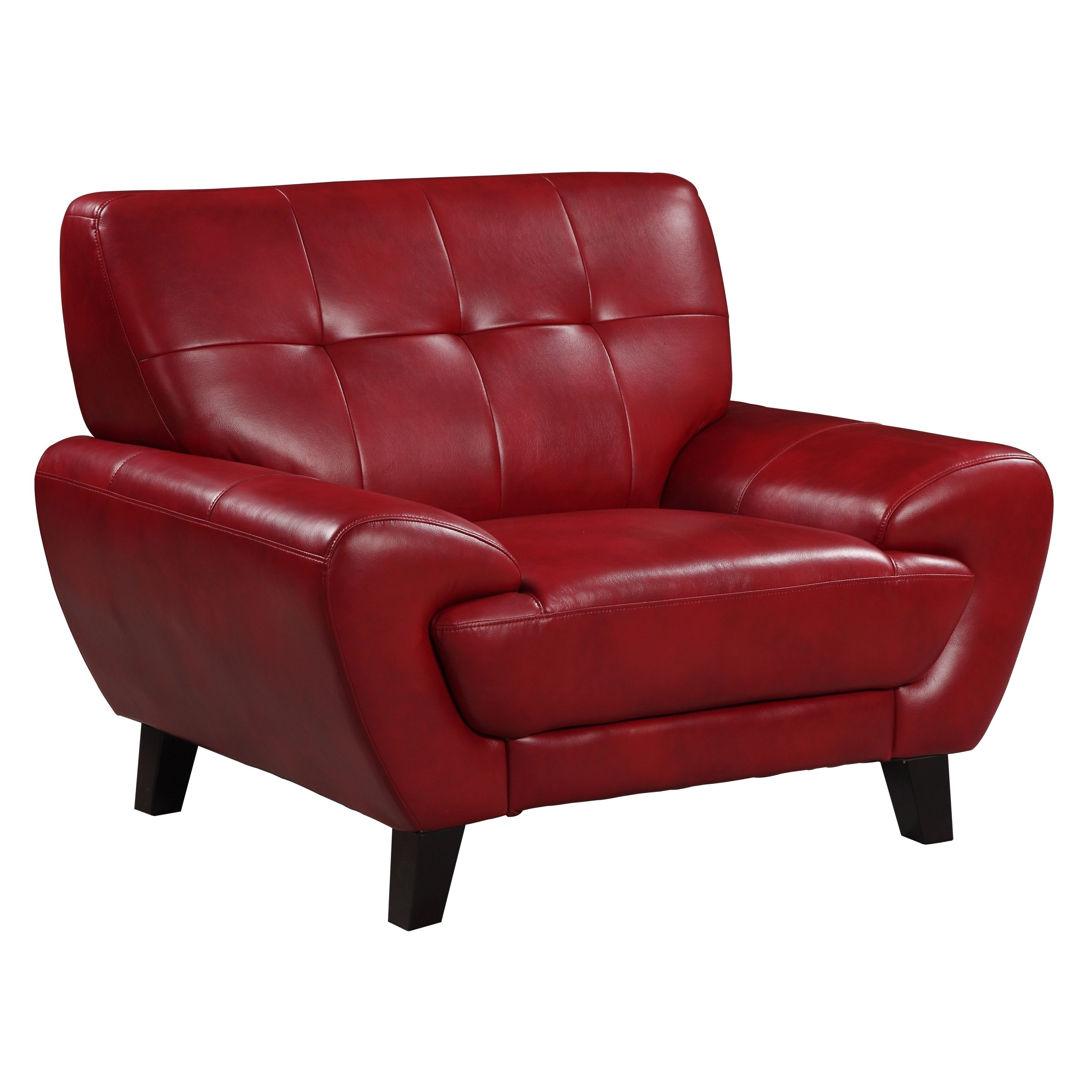 Add Style And Comfort To Your Home With This Plush Leather Chair. The  Tufted Details