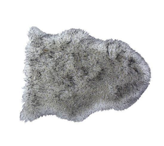 Tapis 65x90 cm SLED Imitation fourrure gris | Loups gris, Bureau ...