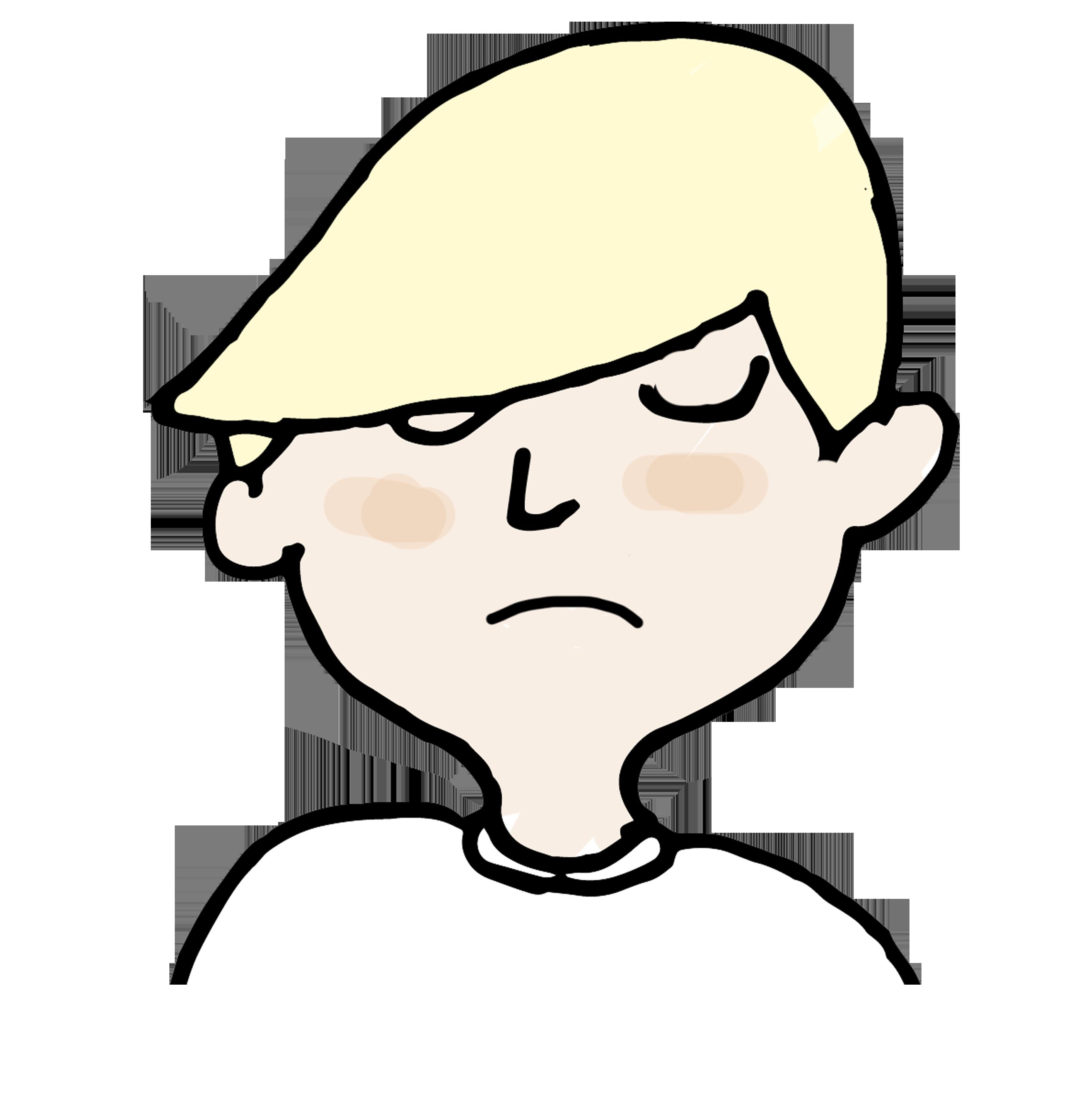 preocupado triste niño hijo