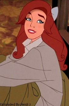 Happy Anastasia :). <---- why does she look like a cousin to Ariel??