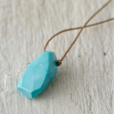 Sleeping Beauty Turquoise Droplet Necklace by Lily B Co at