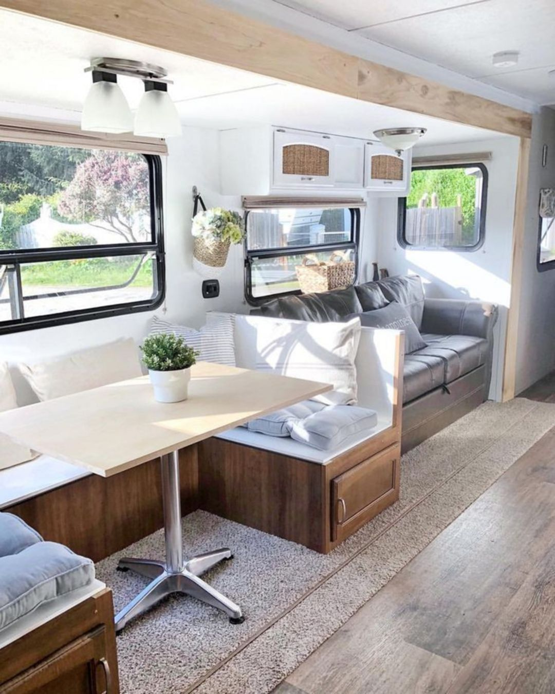 Top 20 Rv Dining Table Design Ideas For Best Rv Dining Space Inspiration Remodeled Campers Camper Makeover
