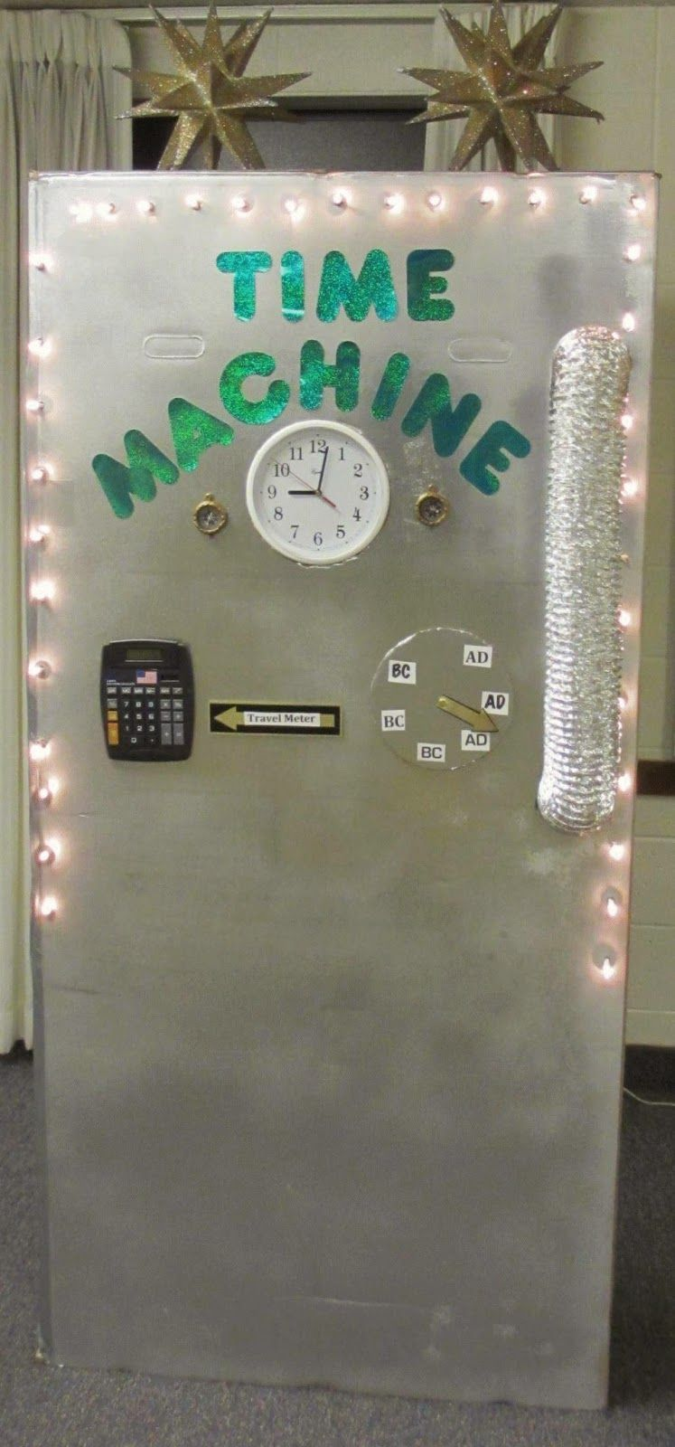 Time machine entrance vbs pinterest school for Idea door primary sharing time
