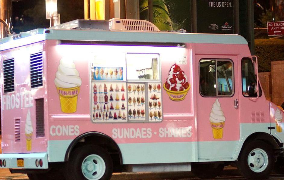Ice cream truck at the office in 2020 ice cream truck