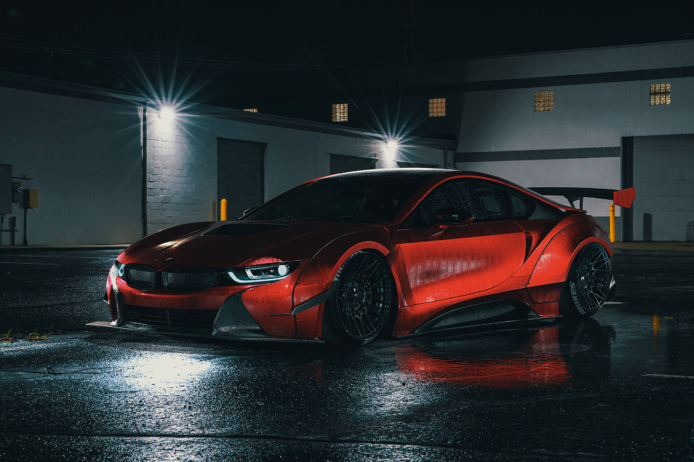 ArtStation - i8 night render, Widebody Workshop