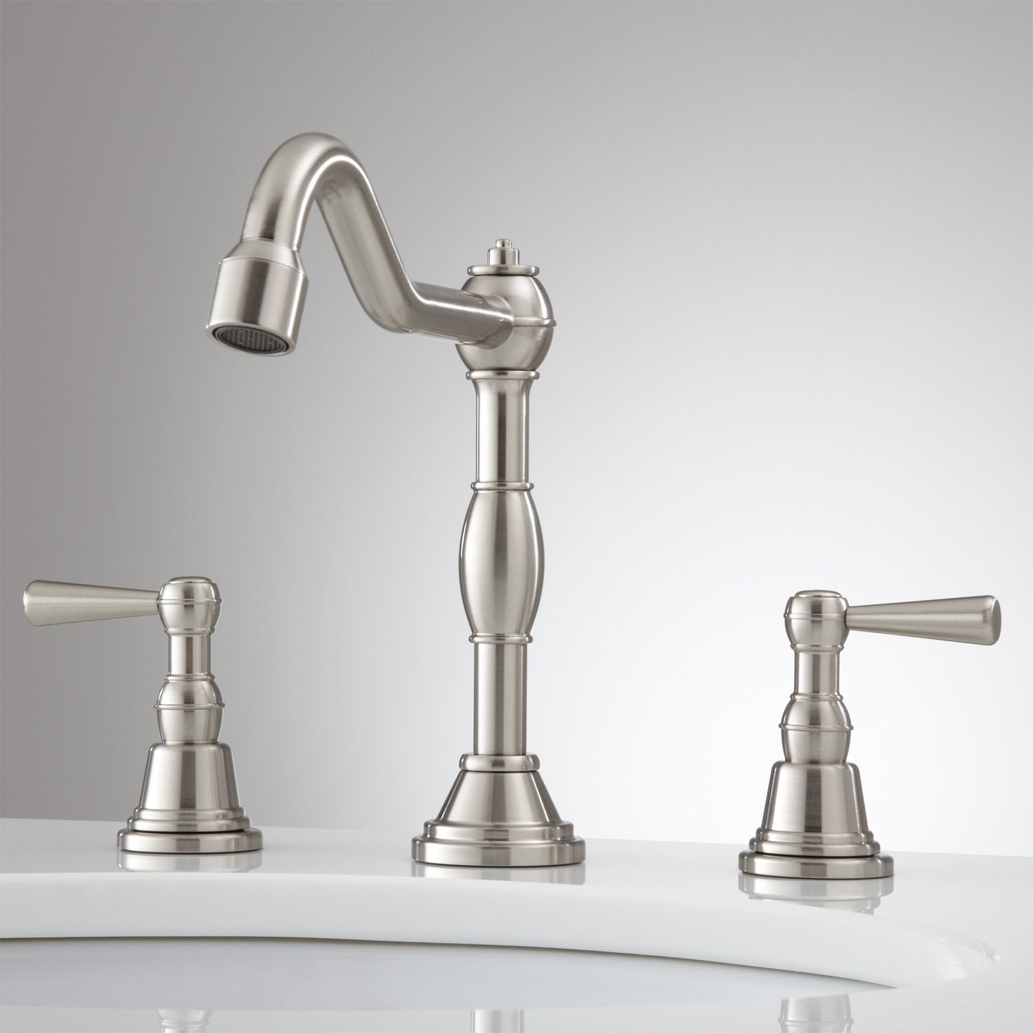 Carice Widespread Bathroom Faucet - Brushed Nickel | Kitchen/bath ...