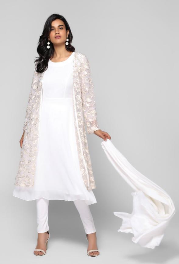 b6f920c00d ZARI EMBELLISHED NET JACKET SUIT . . . . . #salwar #kameez #suits #ladies  #ethnic #wear #anarkalisuits #buy #asian #readymadesuits #designersuits ...