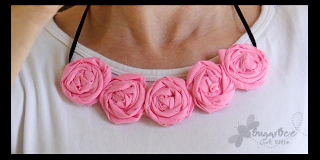 Gerollte Blume Halskette – Sugar Bee Crafts