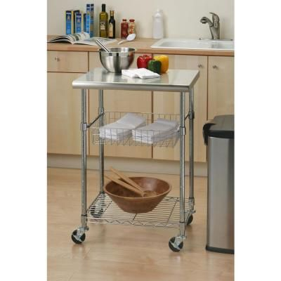 Mobile Stainless Steel Kitchen Cart Kitchen Work Tables Stainless Steel Kitchen Table