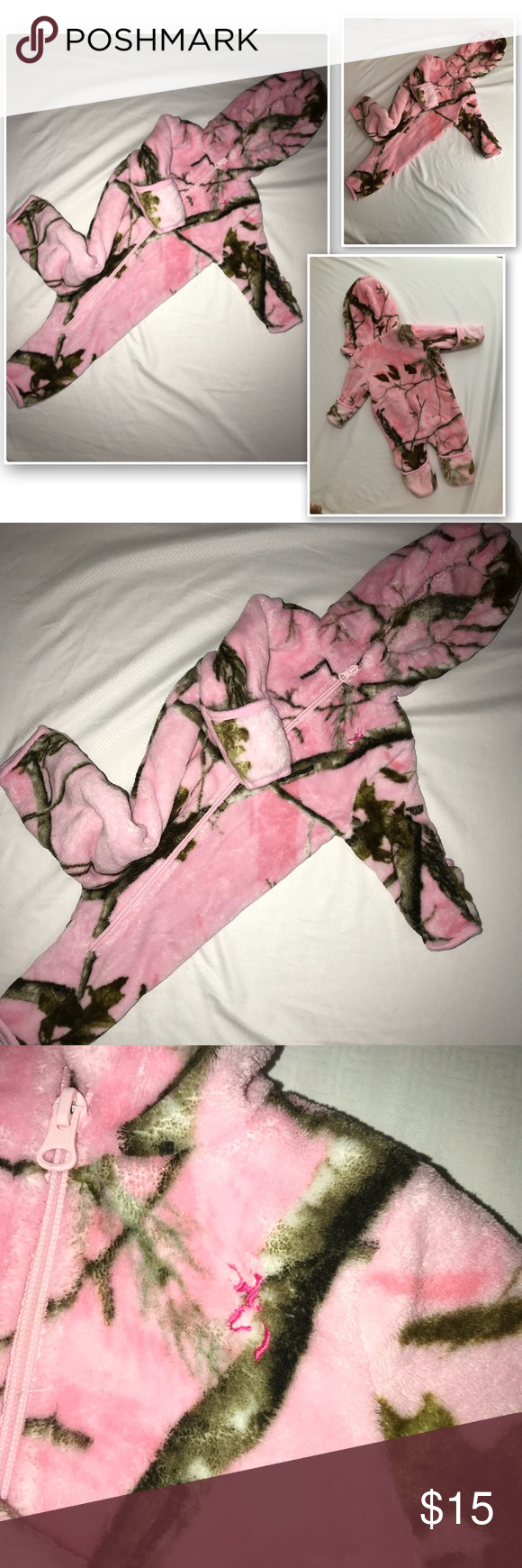 Baby/infant Bunting Snowsuit Realtree Pink🌸 A very nice