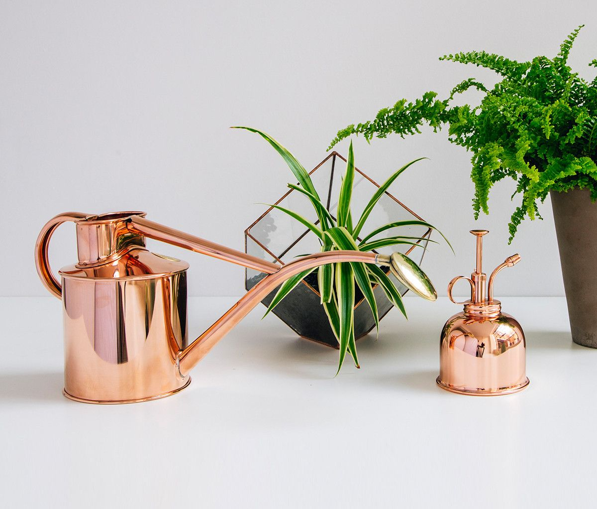 Copper Watering Can And Mister Giftset