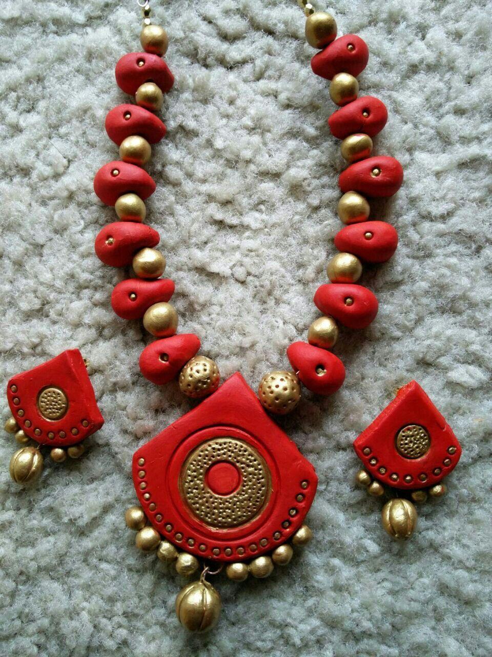 Pin By Dax Bhuvi On Terracotta Terracotta Jewellery Making Terracotta Jewellery Terracota Jewellery