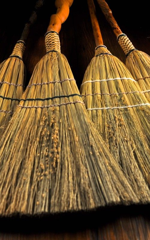 Handmade Appalachian Sweeper Broomcorn Brooms by Mark Hendry for
