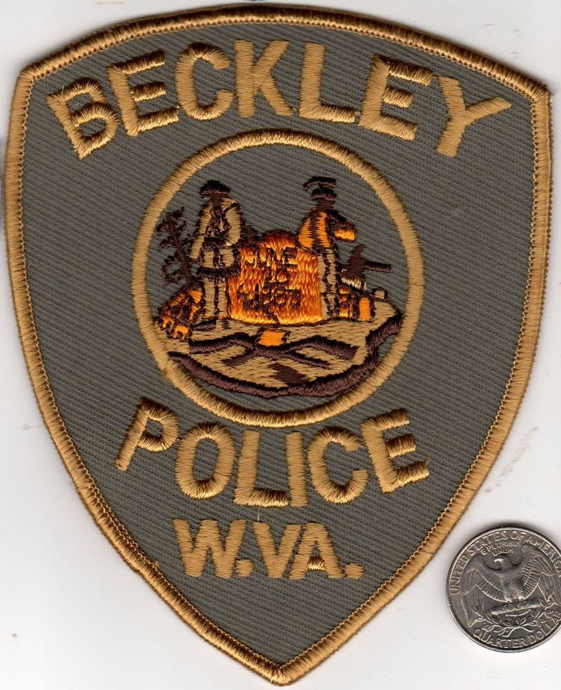 Police Patch City Police Department Beckley West Virginia Cloth Badge Sheild Police Patches Beckley Police
