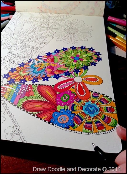 draw doodle and decorate floral fauna