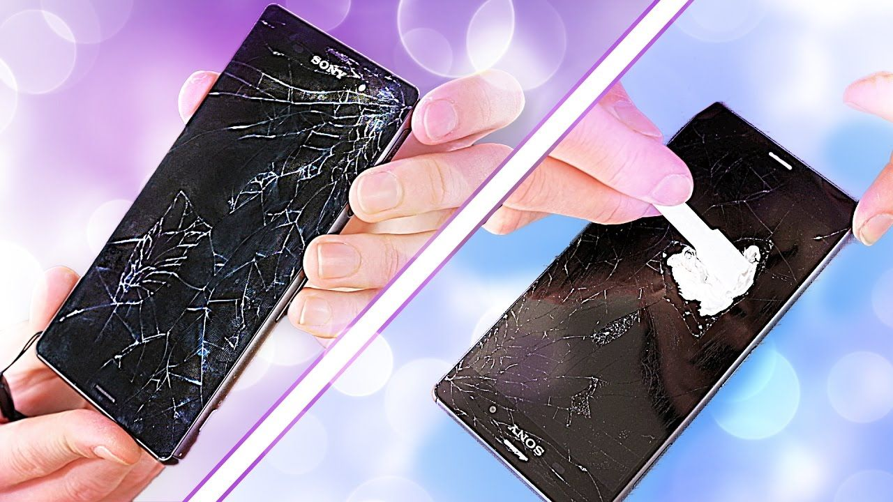 Fixing a smashed phone screen on a budget glass only