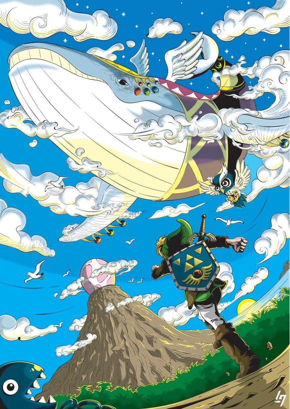 Legend Of Zelda Link S Awakening Art Link The Wind Fish By Leonard Guiam On Artstation Awakening Art Zelda Art Legend Of Zelda