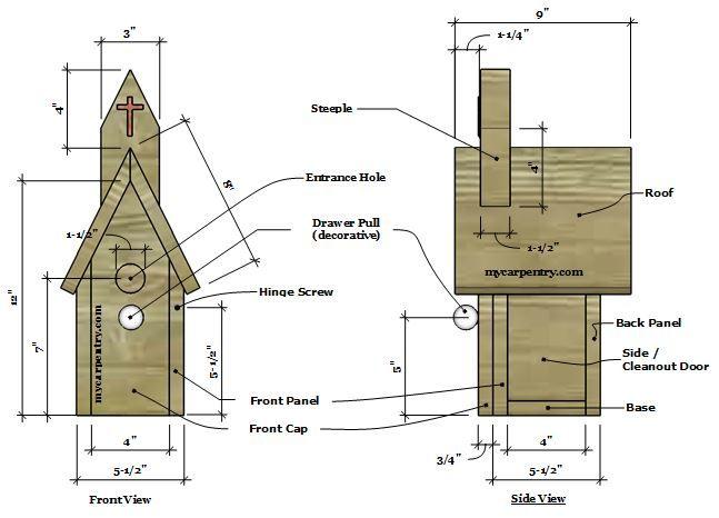 Church Birdhouse Plans Dell s Projects Birdhouses