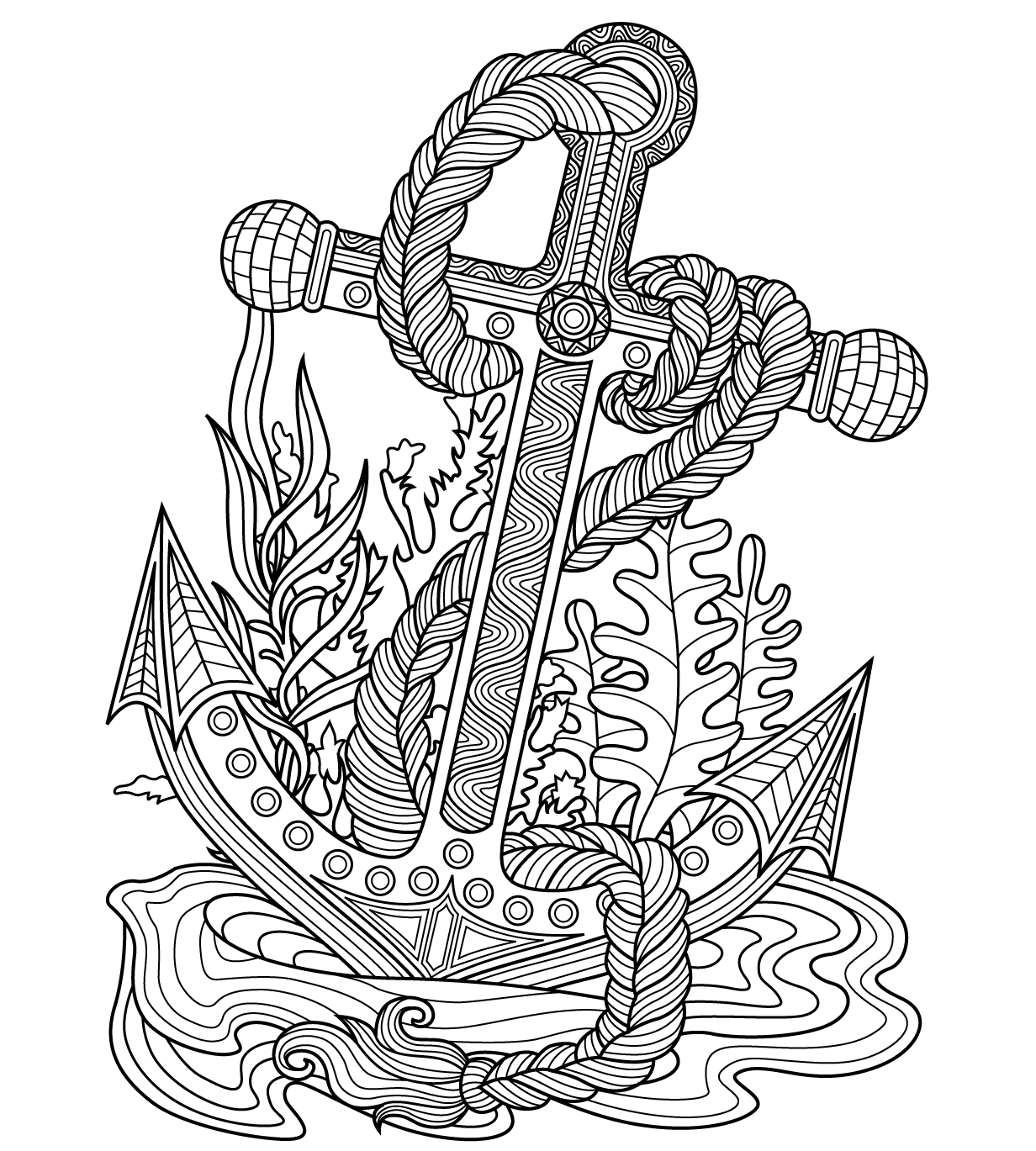 Coloring pages for adults app ~ Anchor Sea coloring page | Colorish : coloring book app ...