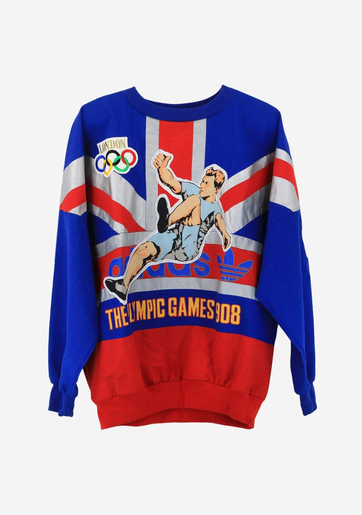 Adidas London Olympics sweatshirt | Sweatshirts, Retro