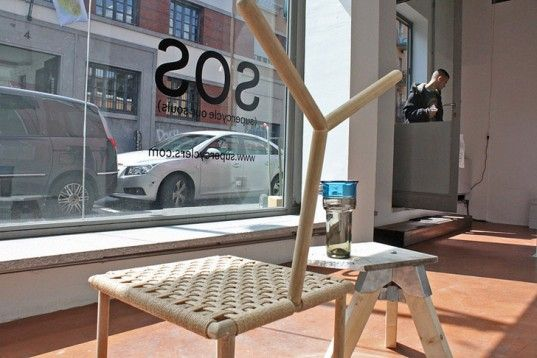 """~Cool Chair made from a RECYCLED BROOM! """"Supercyclers Unveil Innovative Designs Made From Waste During Milan Design Week..."""""""
