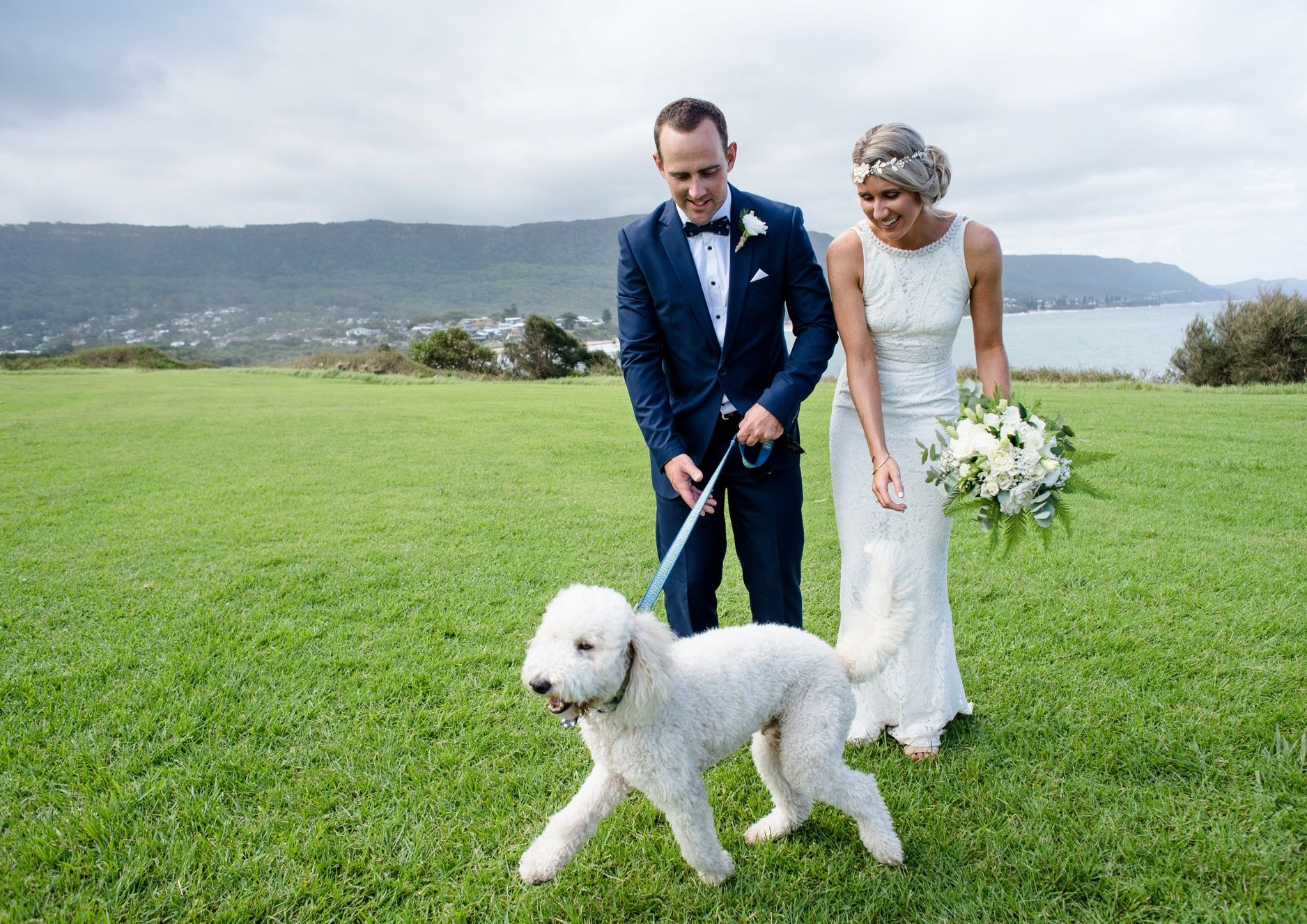 wedding day with a pet
