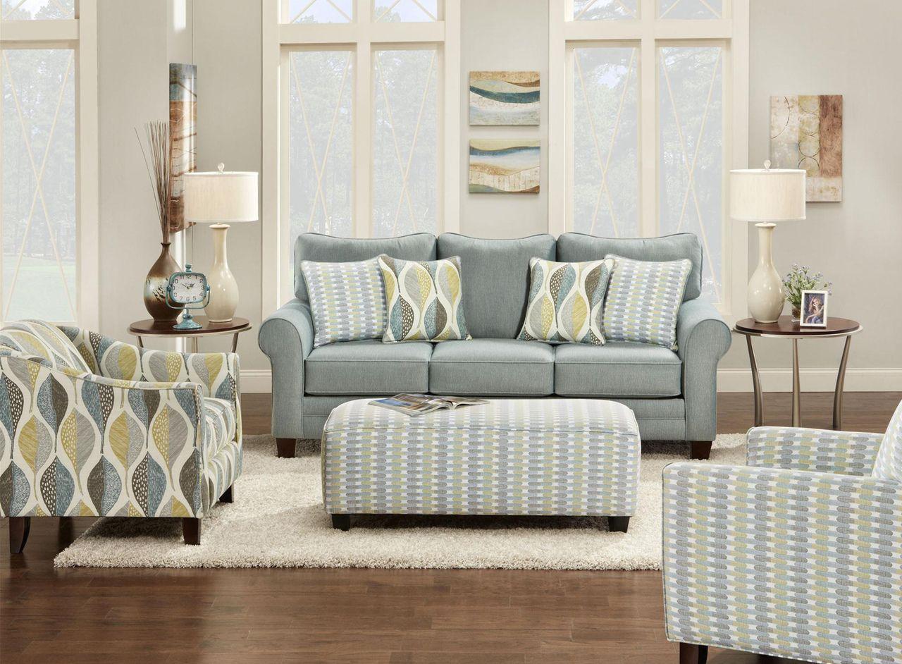 1140 Decade Aqua/Woodblock Leaf Living Room - Berrios te da más ...
