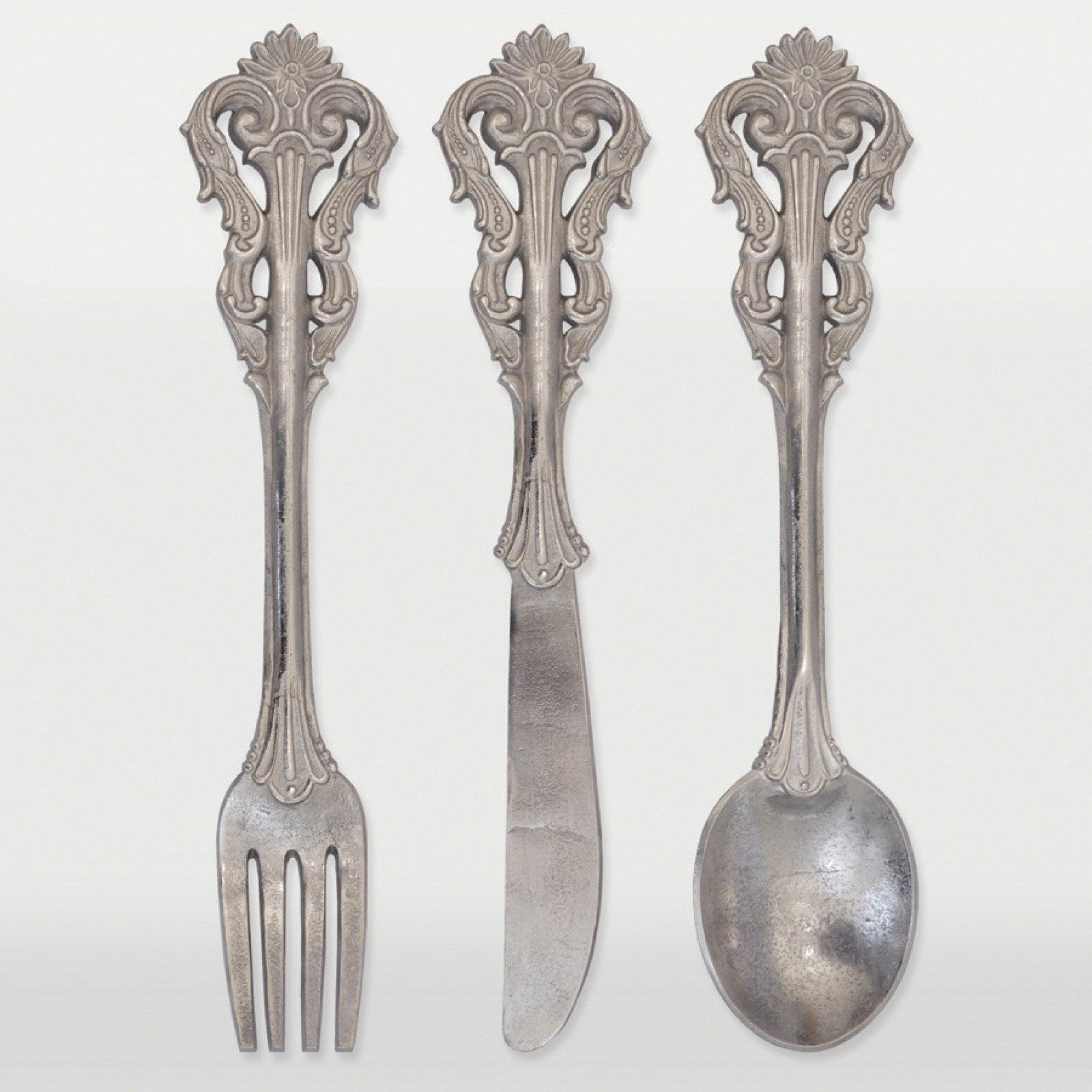 Renwil decadence wall decor set of raw nickel from