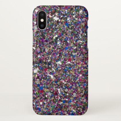 purple pink glitter sparkles beautiful iphone x case xmas christmaseve christmas eve christmas merry xmas