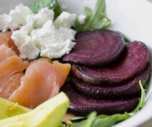 Smoked Salmon and Roasted Beet Salad with Horseradish Vinaigrette Recipe | Paleo inspired, real food