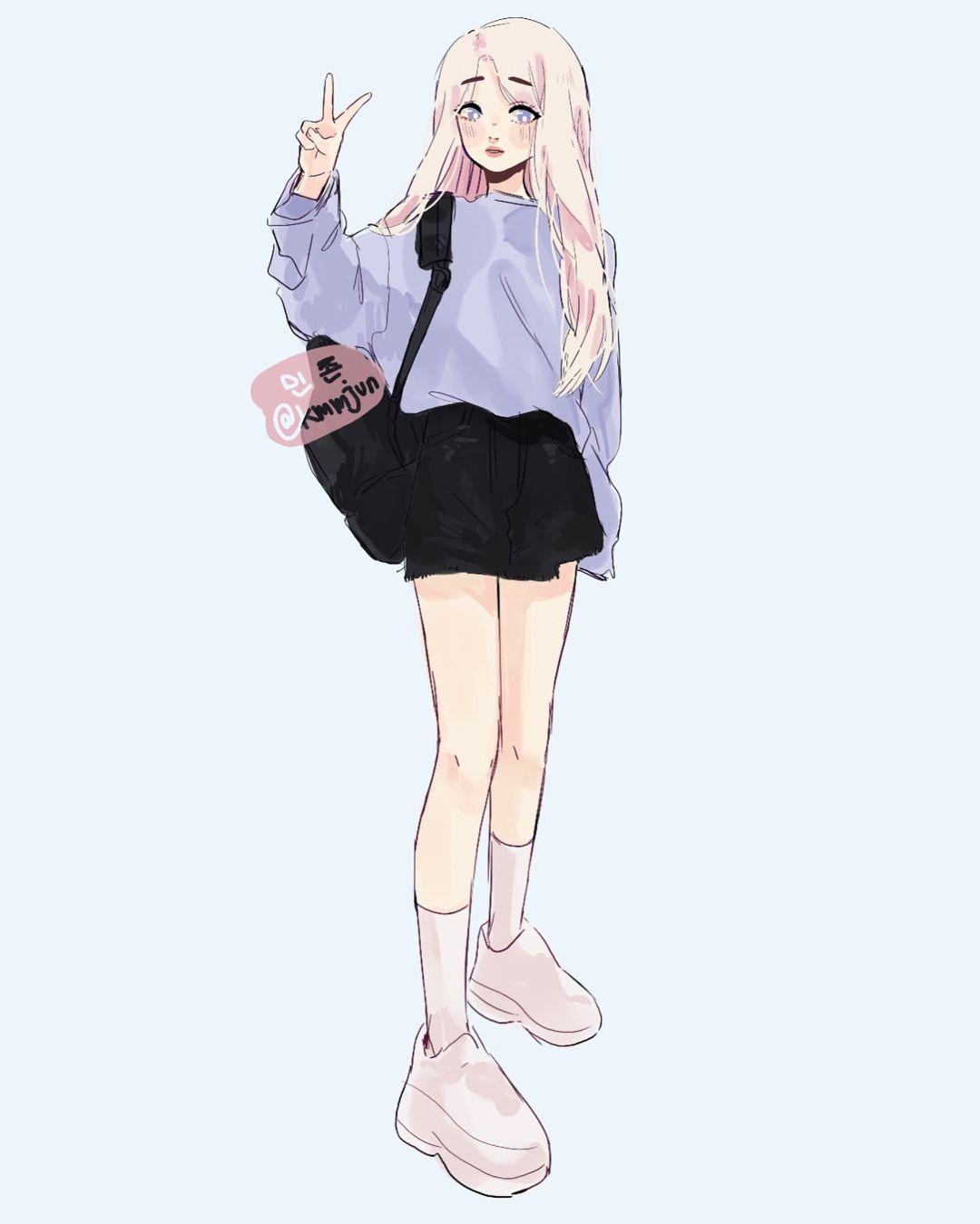 Ghim Của Myan W Tren Kstyle Art đang Yeu Dễ Thương Cosplay Anime