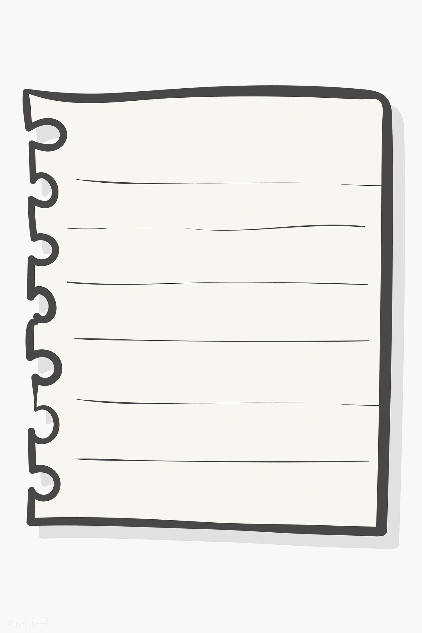 Torn Sheet Of Paper From Spiral Notebook Transparent Png Free Image By Rawpixel Com Chayanit Sheet Of Paper Paper Background Design Notebook Drawing