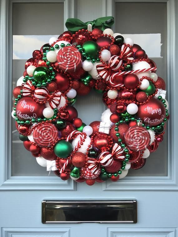 Bauble wreath - 'Candy-land' #baublewreath