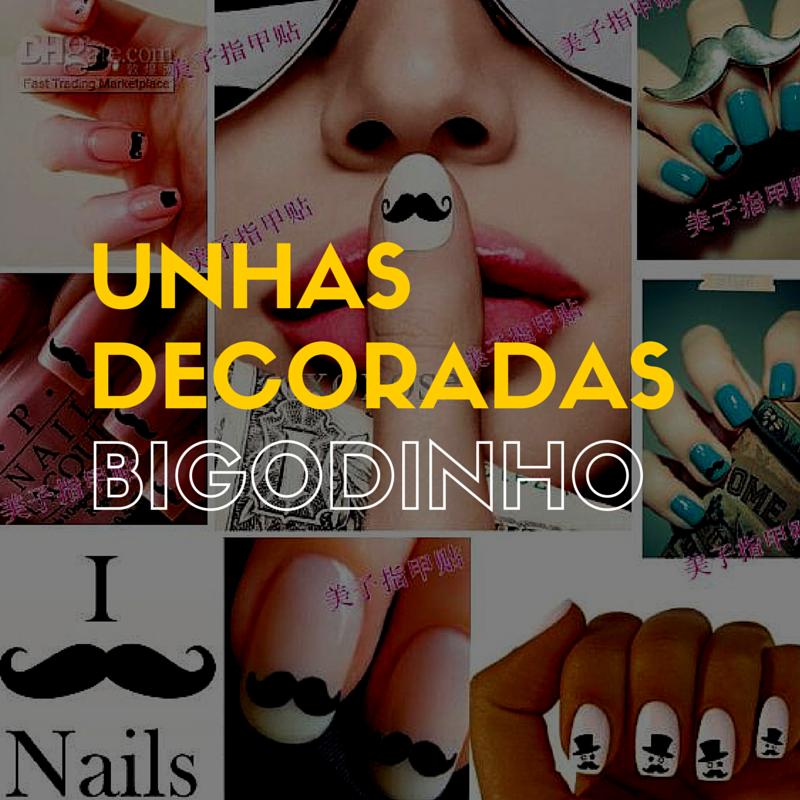 Unhas Decoradas Bigodinho - http://webfeminina.com/unhas-decoradas-bigodinho/