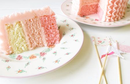 Inside the Crave pink cake.
