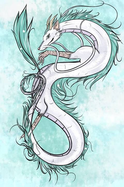 Spirited away art studioghibli studio ghibli for Jade dragon tattoo