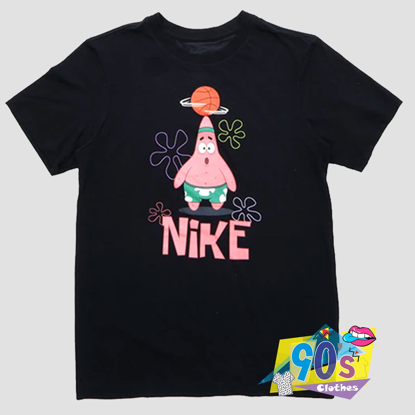 Patrick Star Parody Basketball And Nike Funny T shirt #adventlustigerster