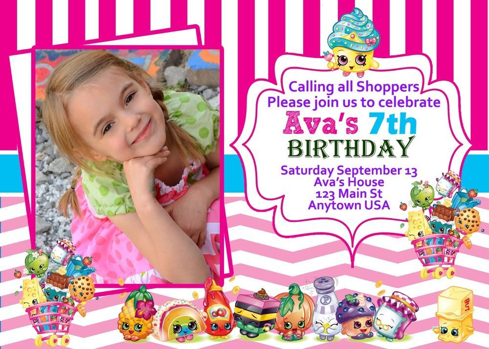 Shopkins Invitation Invitations Birthday