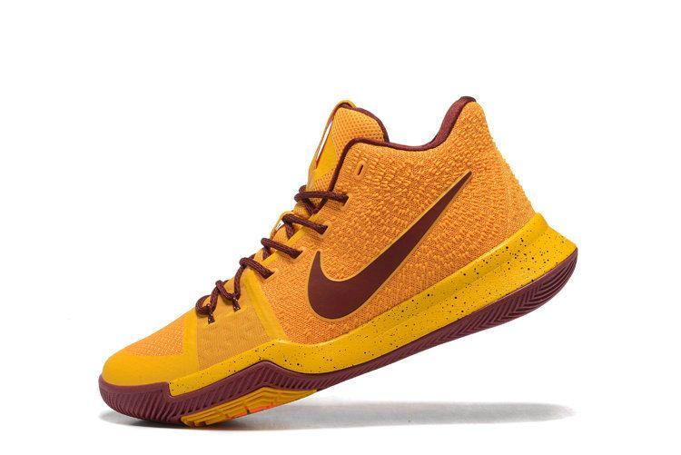 11f440b40b6 Cheap Priced Nike Kyrie Irving 3 3S Cavs Home Metallic Gold Bright Maize  Burgundy