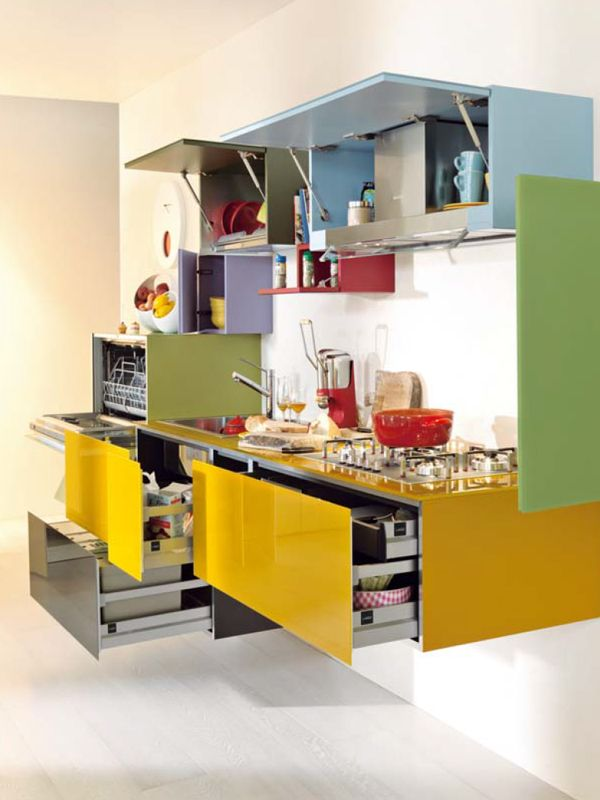MODULAR FITTED KITCHEN WITHOUT HANDLES 36E8 COLLECTION BY LAGO ...