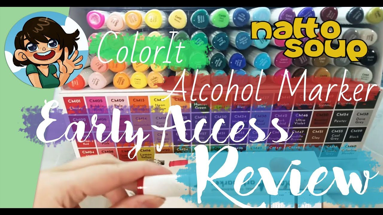 Colorit alcohol markers unbox and swatch and giveaway