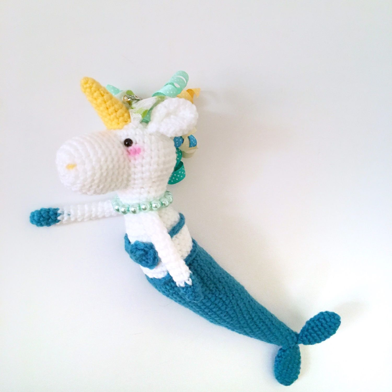 Unicorn Plush Toy Amigurumi Mermaid Plush Amigurumi Unicorn doll Toy ...