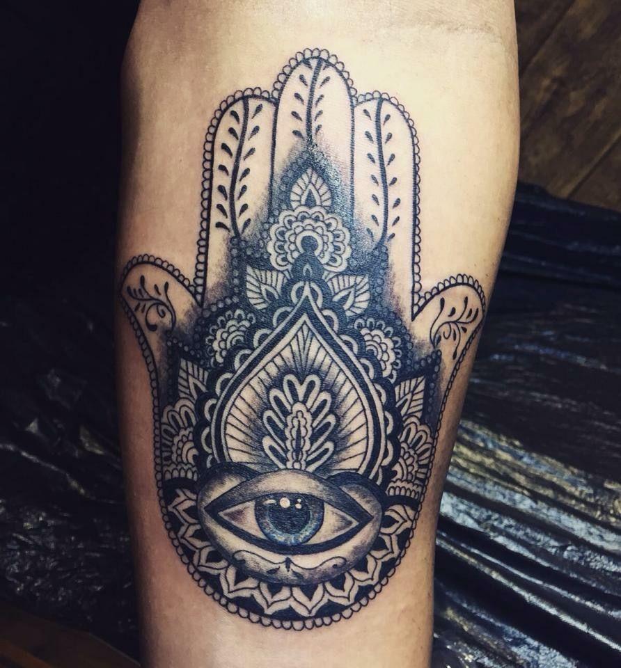 Hand of fatima tattoo by rey sparkle rey sparkle tattoo for Hand of fatima tattoo